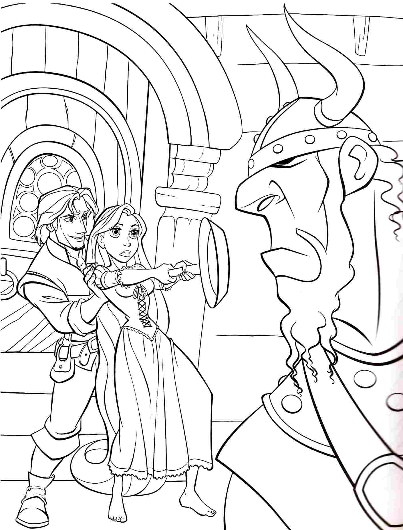 Disney Princess Tangled Rapunzel Coloring Pages Free Printable For Boys Amp Girls
