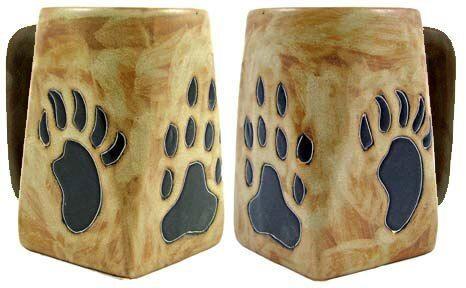 Mara Stoneware Square Mug 12oz - Paw Print #dishware