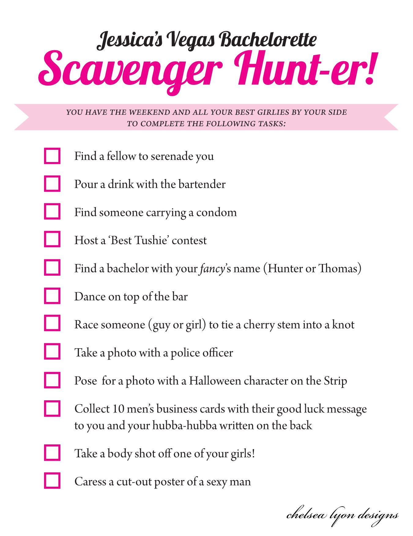 graphic about Printable Bachelorette Scavenger Hunt identify Bachelorette scavenger hunt list : Clean eating places inside of