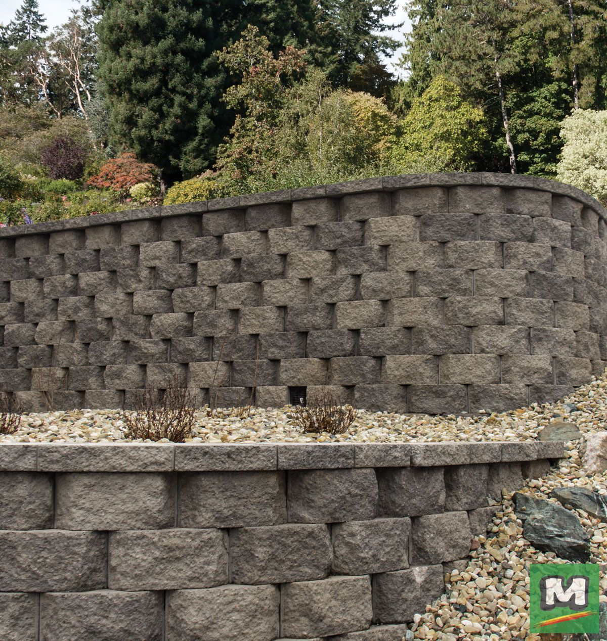 Upgrade Your Landscaping With The Clifton Retaining Wall Block Its Rear Lip Allows For Fast A Landscape Materials Landscaping Inspiration Retaining Wall Block