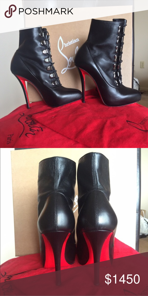 purchase cheap f56a5 5c9c7 Christian Louboutin booties. Size 36.5 Brand new, never worn ...