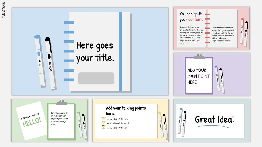 Ogawa Free Template for School Assignments using Slides