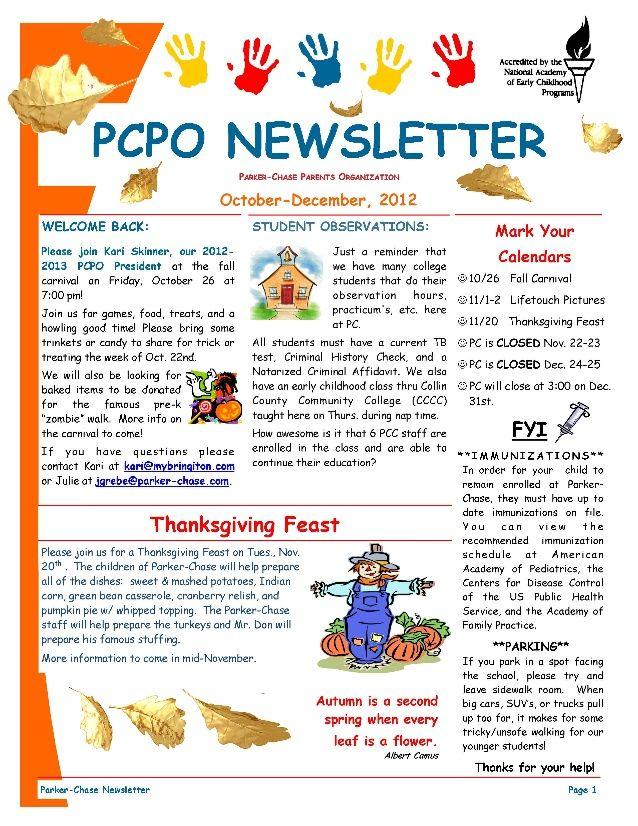 4b2df147d15c0c1a52b124786c44a6e5 October Newsletter Sample Template on free downloadable preschool, printable downloadable,