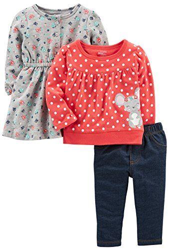 706b6abe0 Simple Joys by Carter s Baby Girls  3-Piece Playwear Set