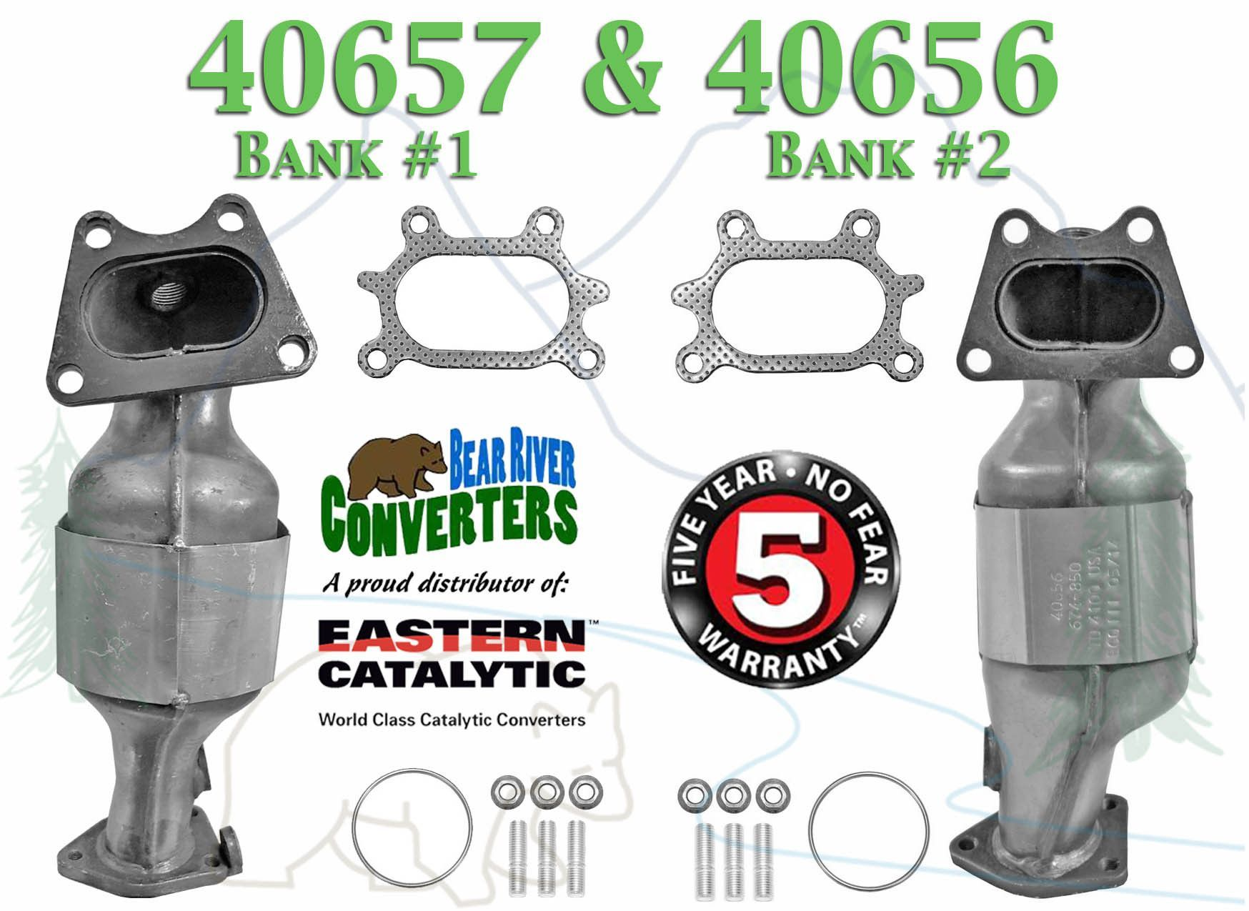 Eastern 40657 40656 Direct Fit Catalytic Converter Set