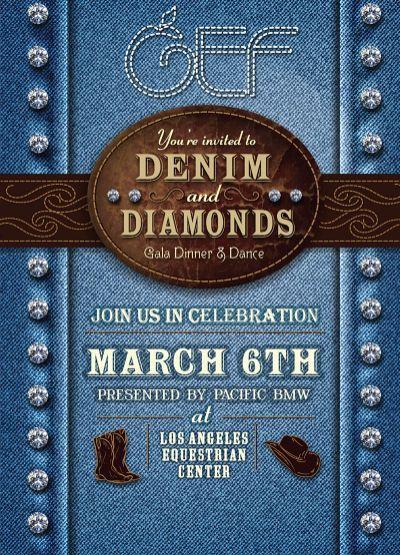 gef denim and diamonds 2015 invite  u2026