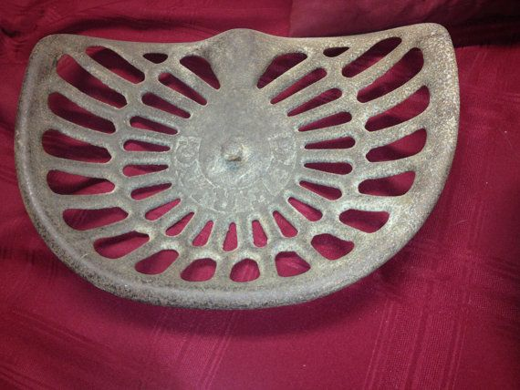Champion Tractor Seats : Antique authentic cast iron champion deering tractor seat