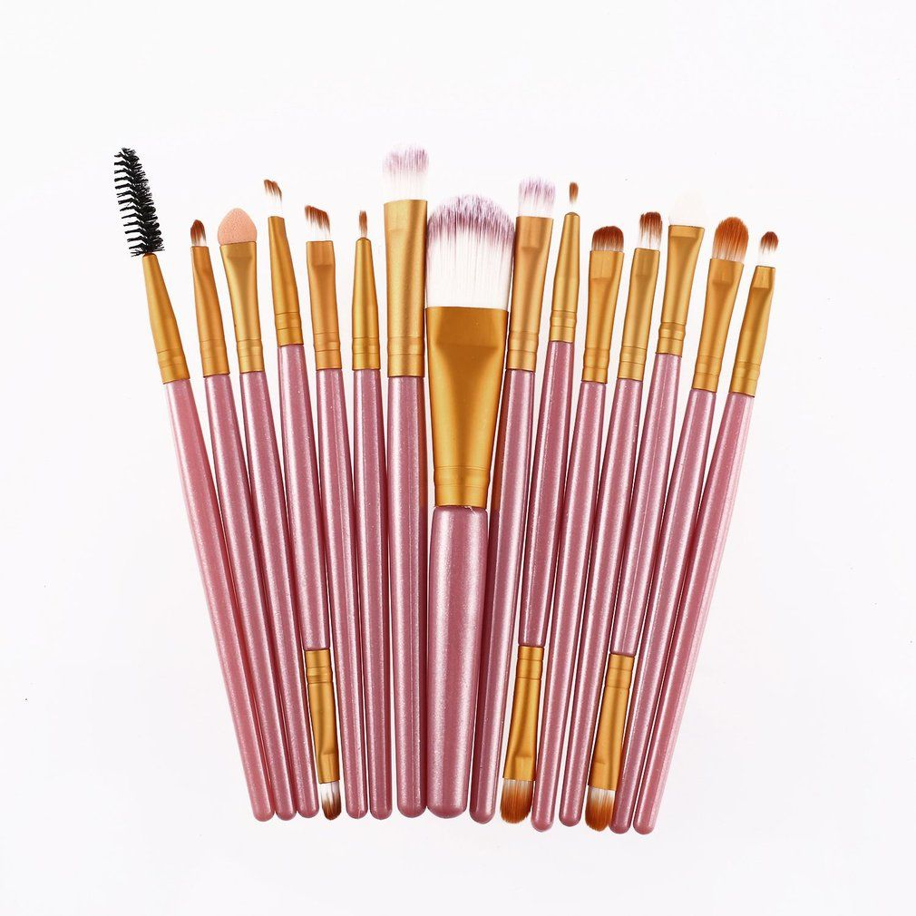 15pcs Makeup Brushes Set Kits Eyelash Lip Foundation