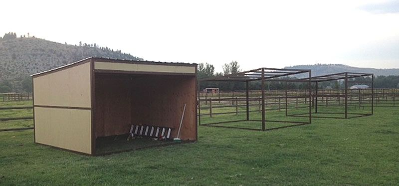 Three 12 X 12 Loafing Sheds These Might Work Out