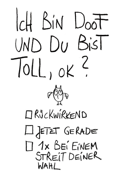 """Postkarte /""""Sprüche/""""Streit gibt`s überall mal."""