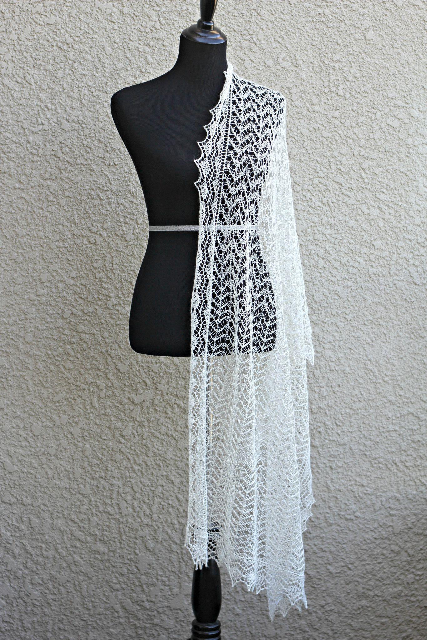 Waterfall Shawl knitting pattern, knitting tutorial | Products