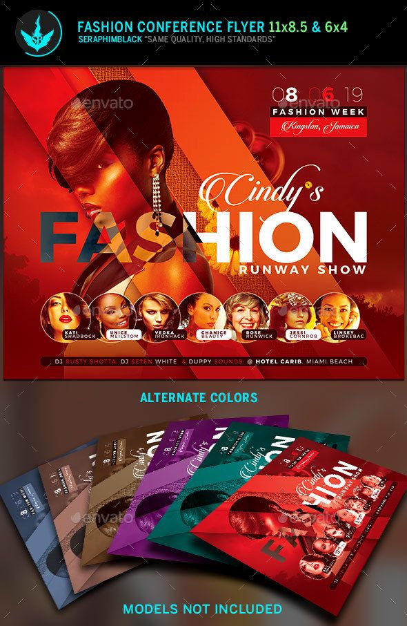Fashion Conference Flyer Template 3 Flyer template, Template and