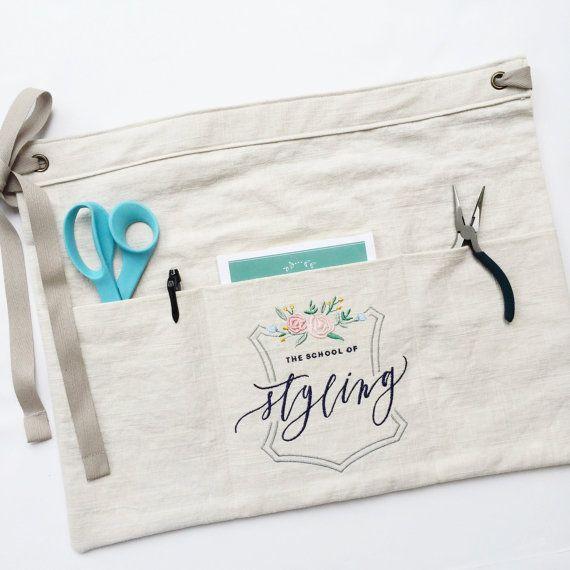 Custom half apron : vendor aprons custom embroidery florist   Etsy