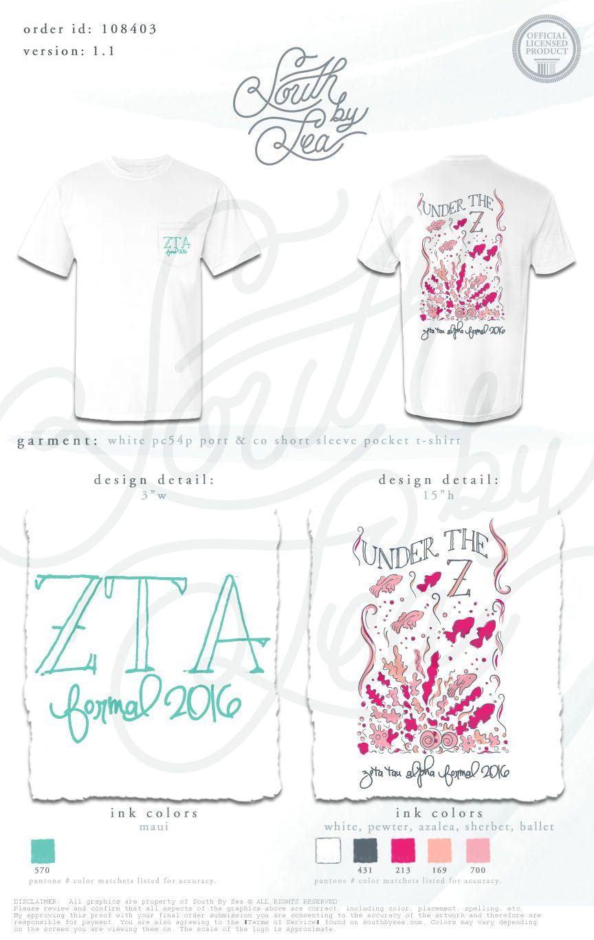 T shirt design qld - Sorority Shirt Designs Sorority Shirts Tee Shirts Phi Mu Alpha Zeta Tau Alpha Shirts Kappa Delta Relay For Life Greek Apparel Under The Sea