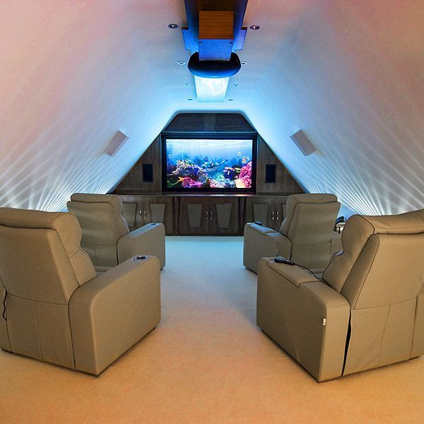 Modern Home Theatre Ideas: Elegant Modern Attic Ideas World Of Architecture 16 Simple
