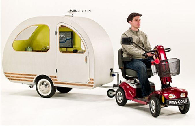 Qtvan Bicycle And Electric Scooter Camper Trailer Petite