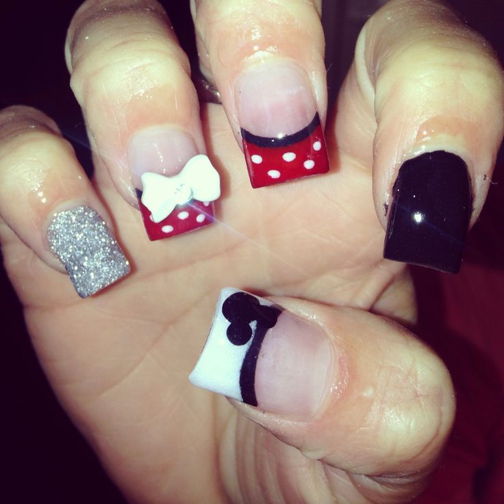Disneyland inspired acrylic nails | disney stuff | Pinterest ...