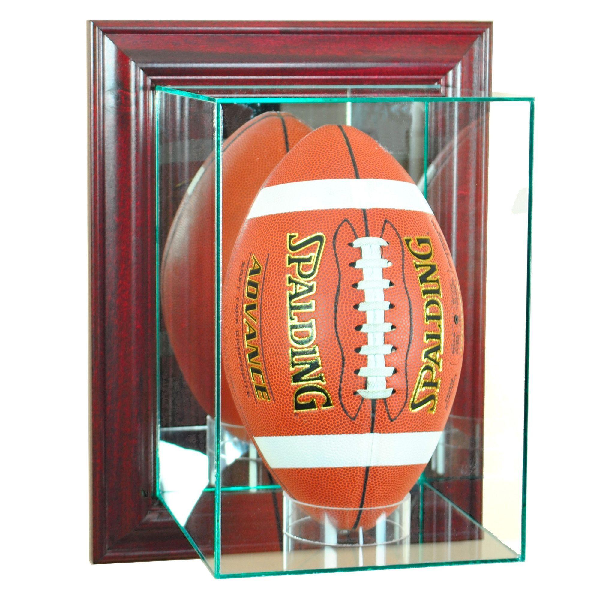 Wall Mounted Upright Football Football Display Cases Glass Display Case Display Case