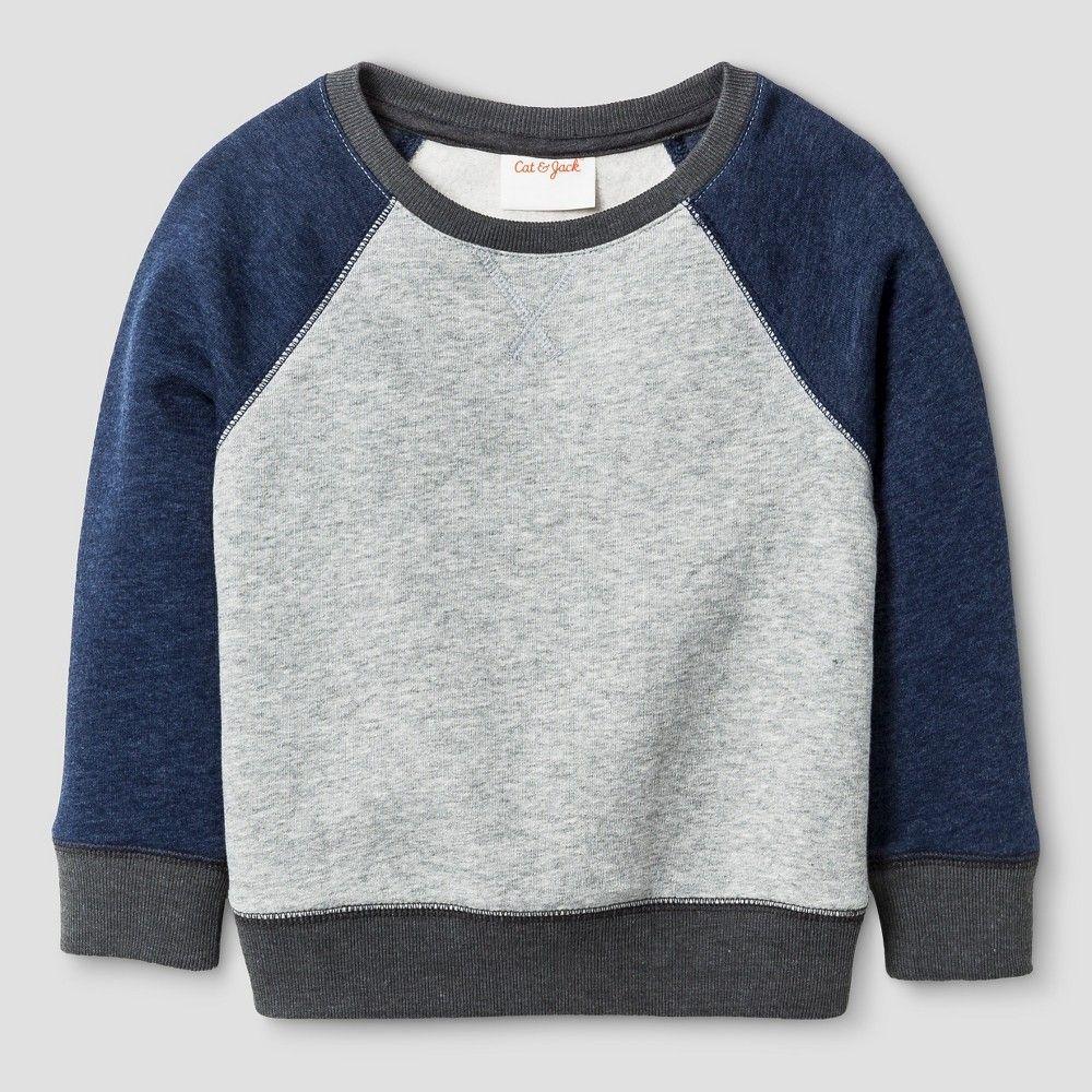 Toddler Boys' Sweatshirts Heather Gray 4T - Cat & Jack ...