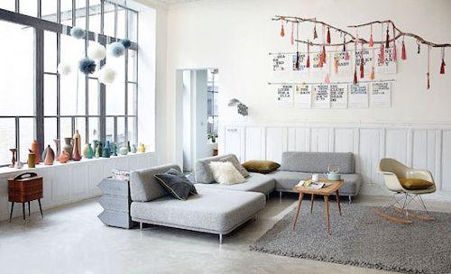 d coration au style scandinave pour le salon et magnifique. Black Bedroom Furniture Sets. Home Design Ideas