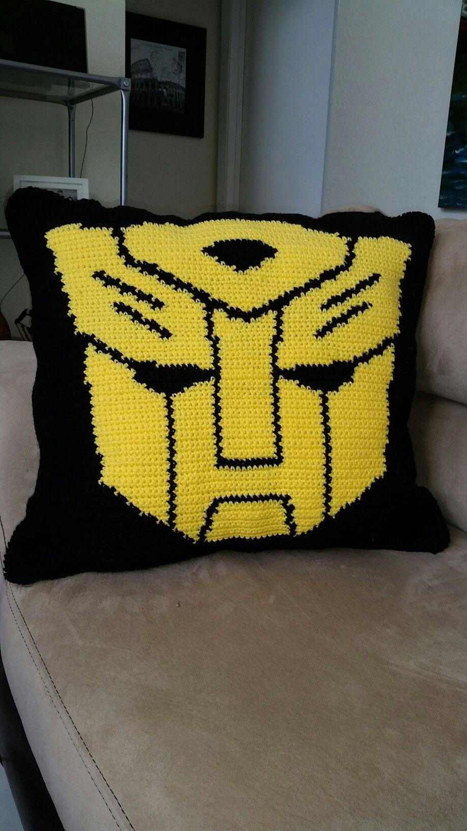 Bumblebee Transformers crochet pillow www ...