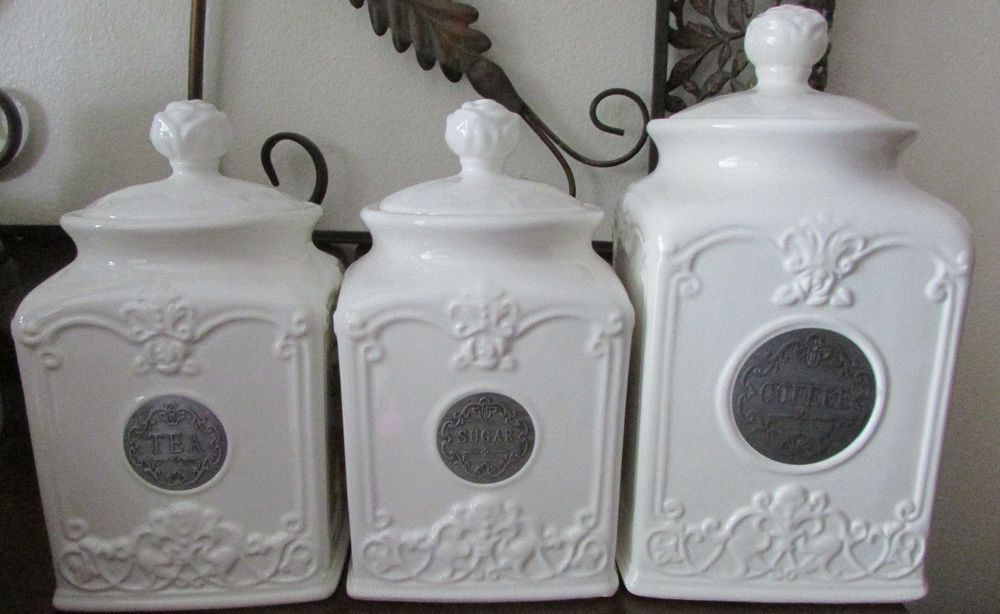 thl kitchen canisters new thl classic french chic rose top coffee sugar tea canisters kitchen decor home garden 1138