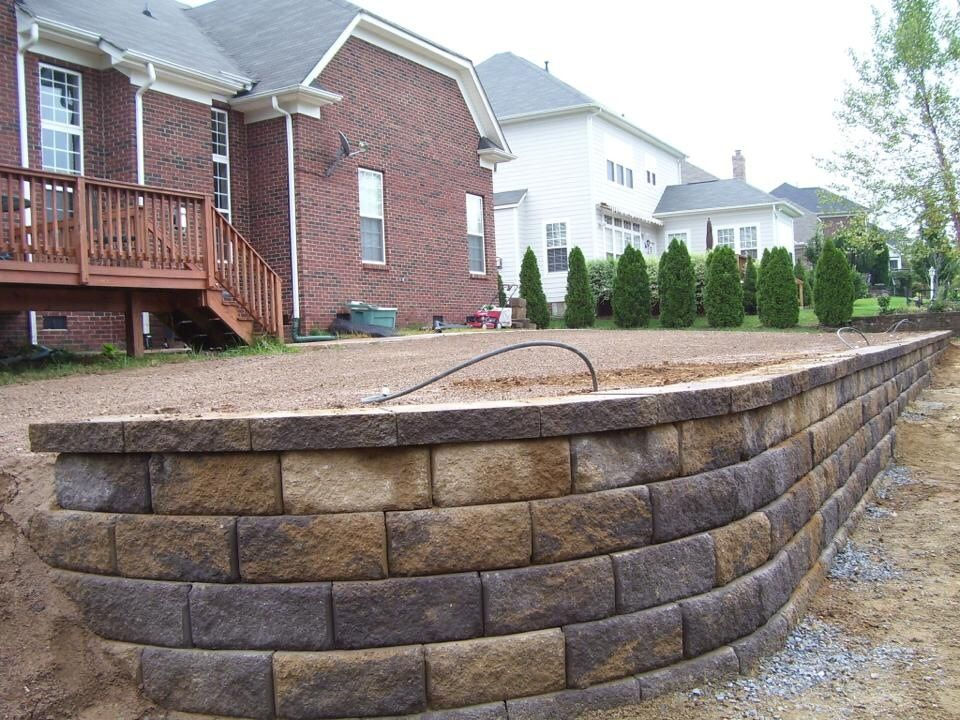 Retaining wall pavestone block carolina blend color for Landscape blocks