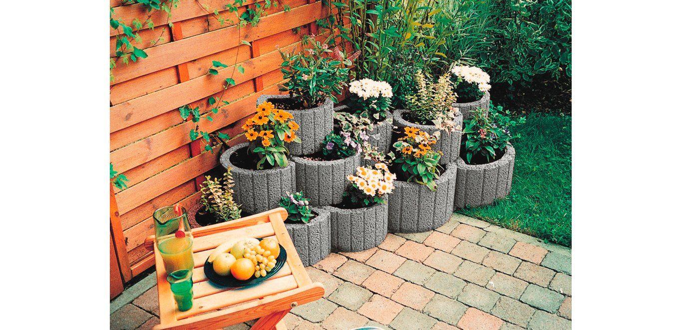 kann pflanzring klein grau 35 cm x 20 cm balkon anbau und pflanzen. Black Bedroom Furniture Sets. Home Design Ideas