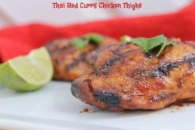 Thai Red Curry Chicken Thighs by A New York Foodie combines all the flavors of Thai food.