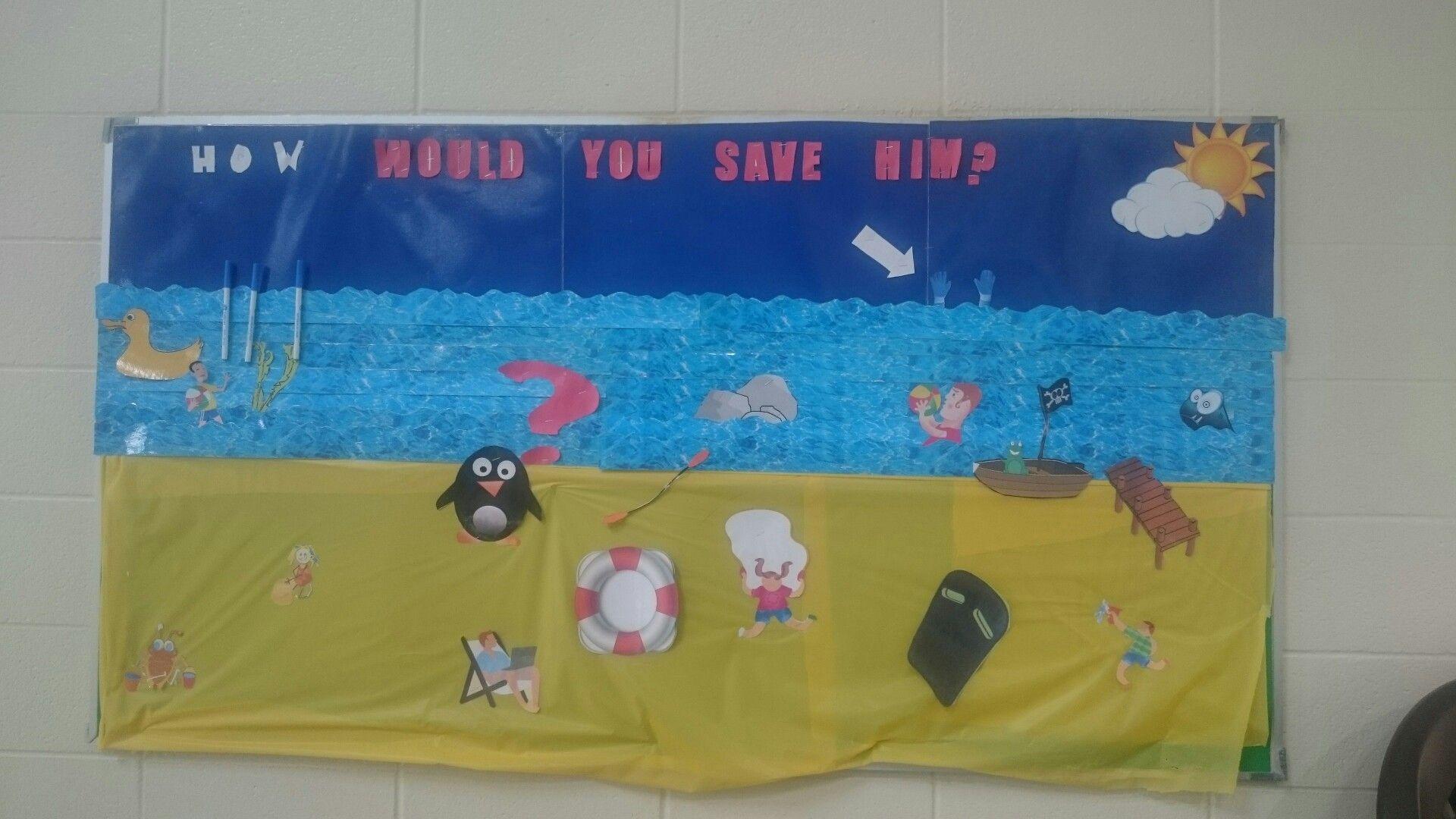 Summer Water Safety Bulletin Board