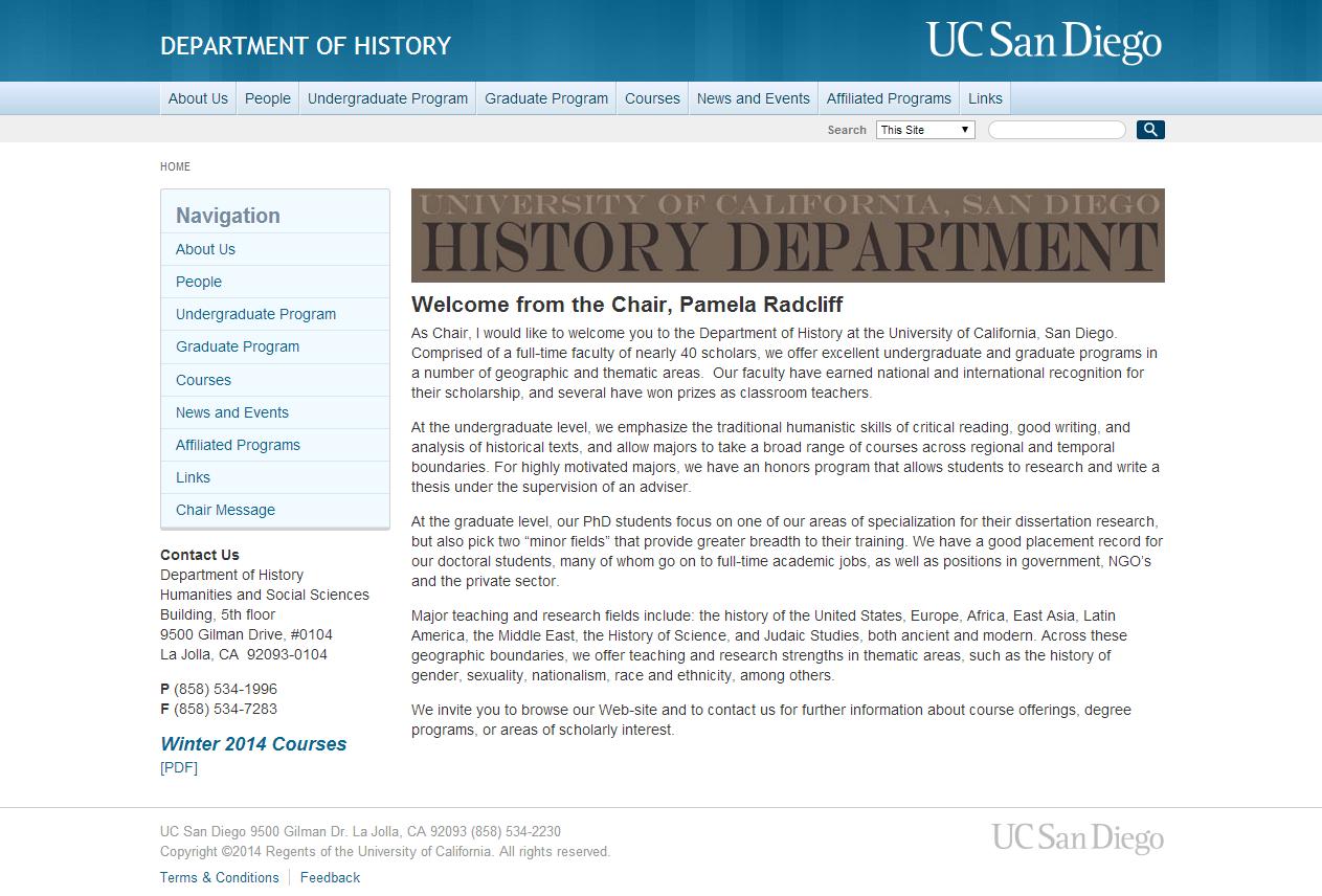 History Graduate Program History Department History
