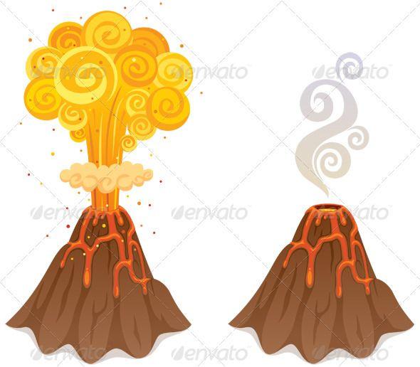 Volcano Cartoon Drawings Cartoon Illustration Cartoon Clip Art