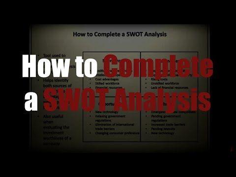 SWOT Analysis How To Do a SWOT Analysis, PESTLE Analysis, Porter 5