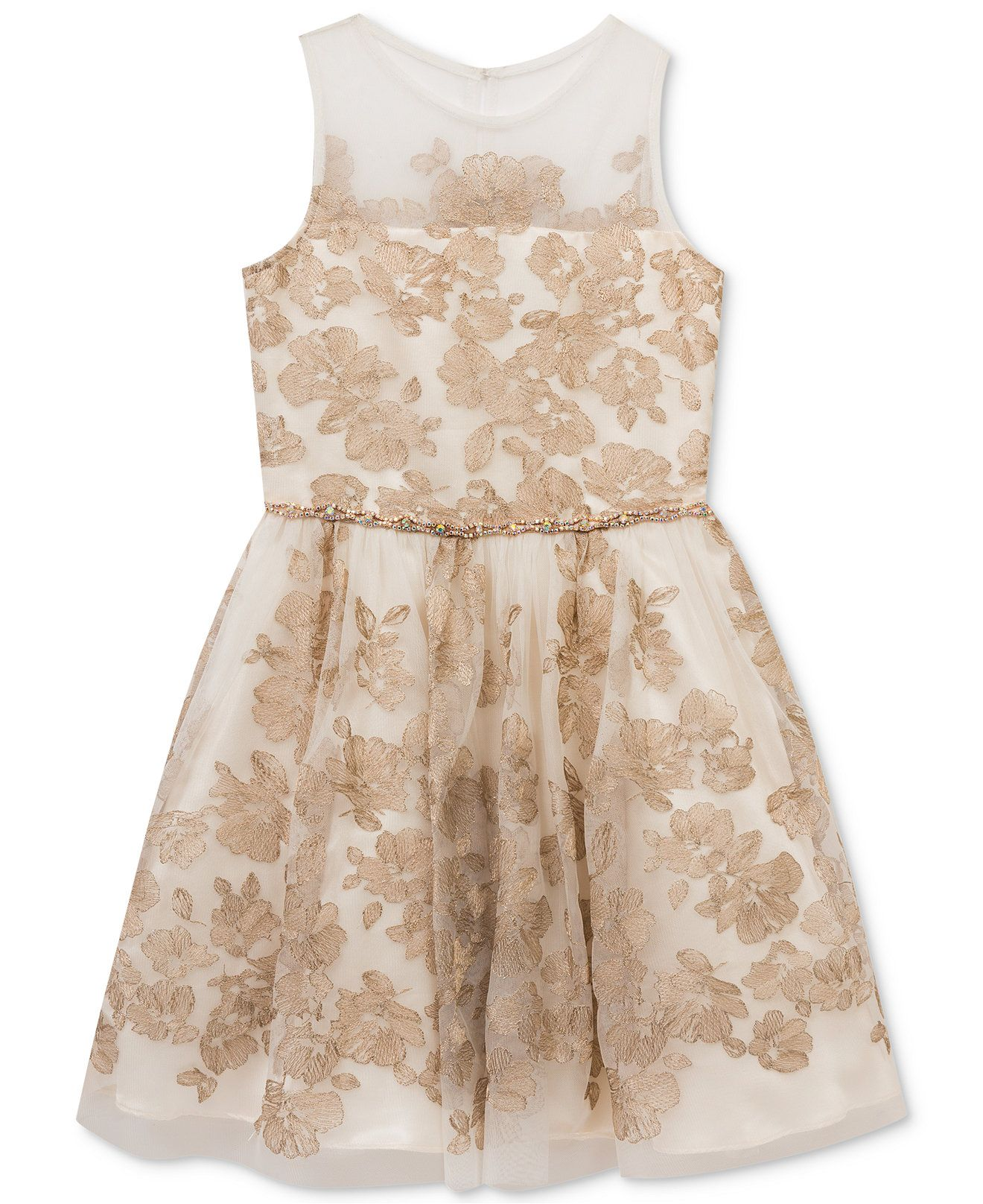 b79acce87600a Rare Editions Embroidered Illusion Party Dress, Big Girls (7-16) - Dresses  - Kids & Baby - Macy's #Easter #Gifts #Dress #Coupons