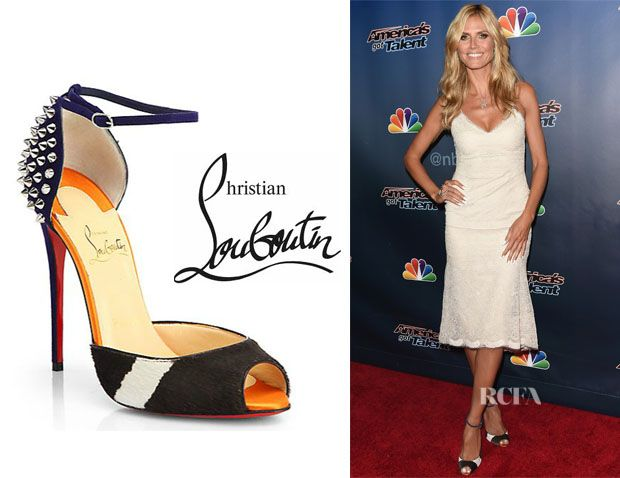 4999f837157 Red Carpet Fashion · Heidi Klum · Christian Louboutin · Awards · Heidi  Klum s Christian Louboutin  Pina  Spike Sandals