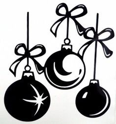 Christmas Ornaments Holiday Car Truck Window Vinyl Decal Sticker 10 Colors Silhouette Christmas Christmas Vinyl Christmas Bulbs
