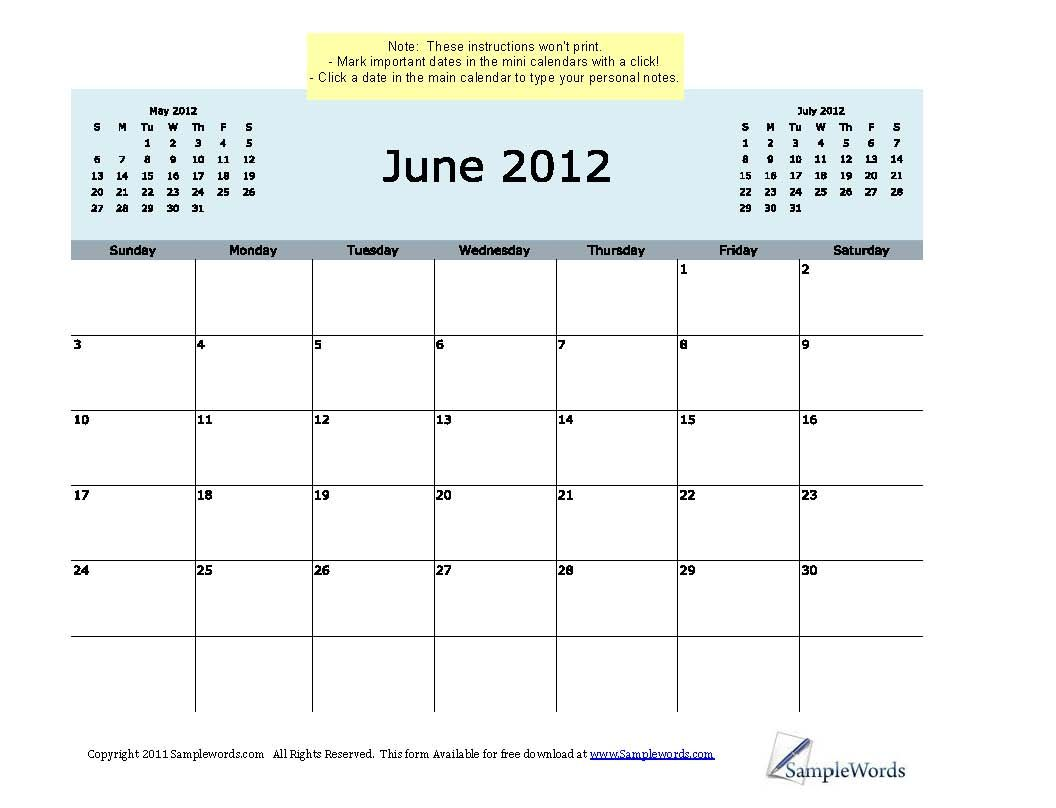 Monthly Calendars Current Year Calendar Free Printable