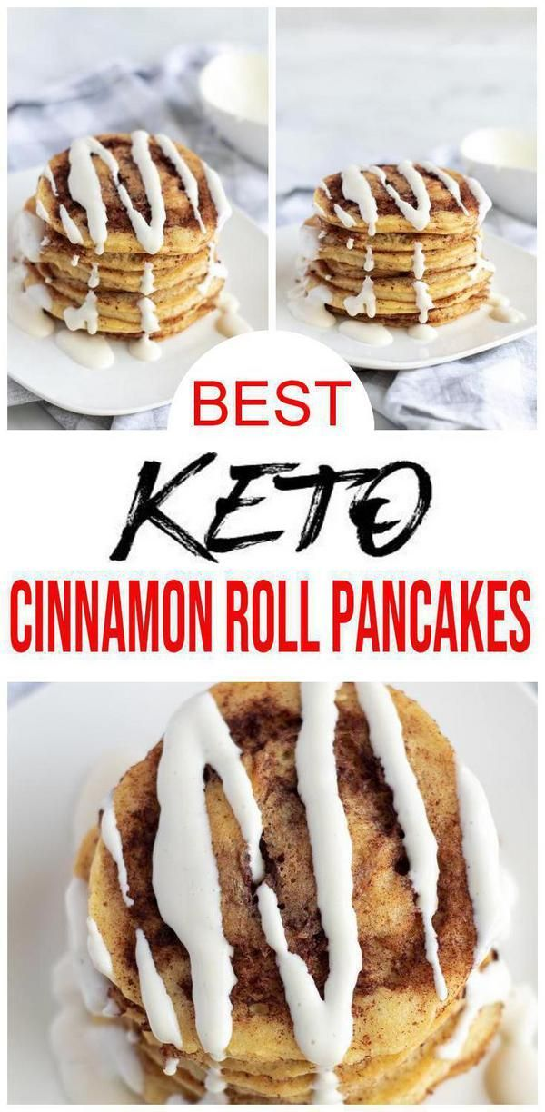 BEST Keto Cinnamon Roll Pancakes! Low Carb Keto Cinnamon Roll Pancake Idea – Quick & Easy