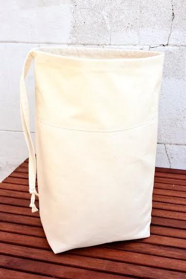 Denim Canvas Laundry Bag Extra Sturdy Luxury By Vintagefromchris