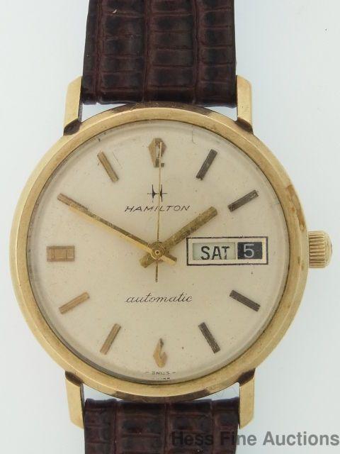 Hamilton Herren Analog Automatik Uhr mit Leder Armband H64715535: Uhren.