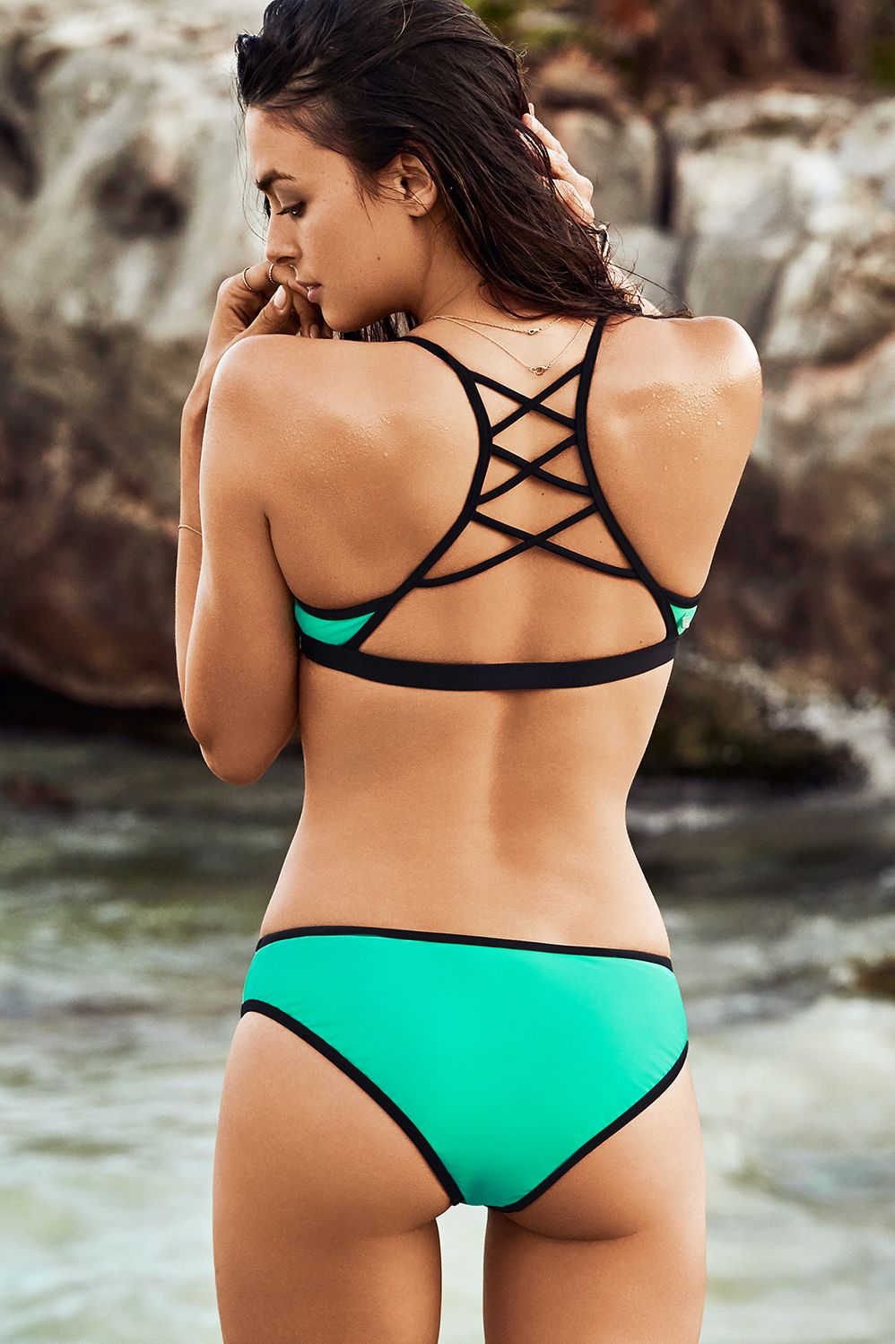 6fa7fc1e61 Your go-to swimsuit for your next vacation. This swimwear style is all  about the details. Pair our shirred
