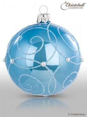 Weihnachtskugeln Blau.Christoball Weihnachtskugeln Christbaumkugeln Glaskugeln