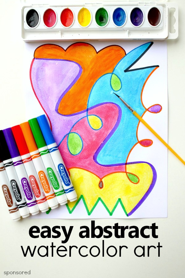 Easy Abstract Watercolor Art Project in 2020   Abstract ...