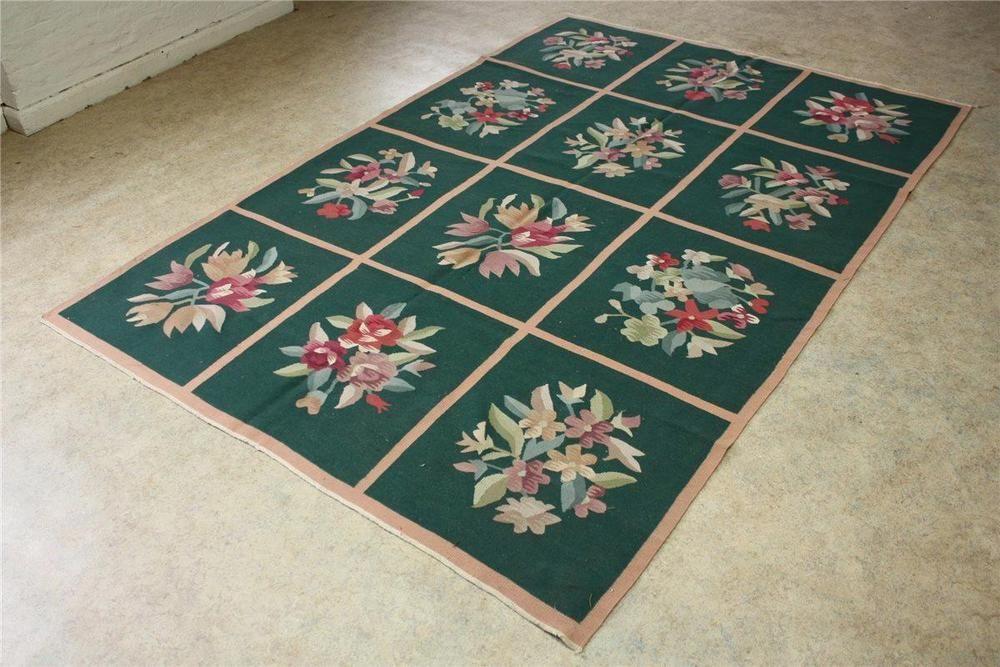 Hochwertiger Teppich China Kelim 180x260 Cm 100 Wolle Grun In