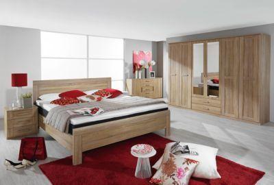Schlafzimmer mit Bett 180 x 200 cm Eiche Sonoma Jetzt