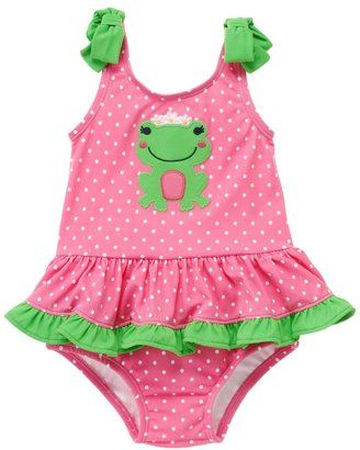 511c915712 ShopStyle: Polka Dot Frog One-Piece Swimsuit | baby | Baby swimsuit ...