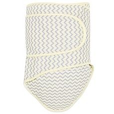 image of Miracle Blanket® Chevron Swaddle in Yellow/Grey
