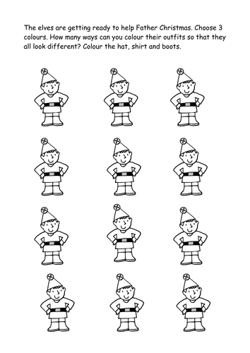 Christmas Maths Problem Solving for Primary KS1