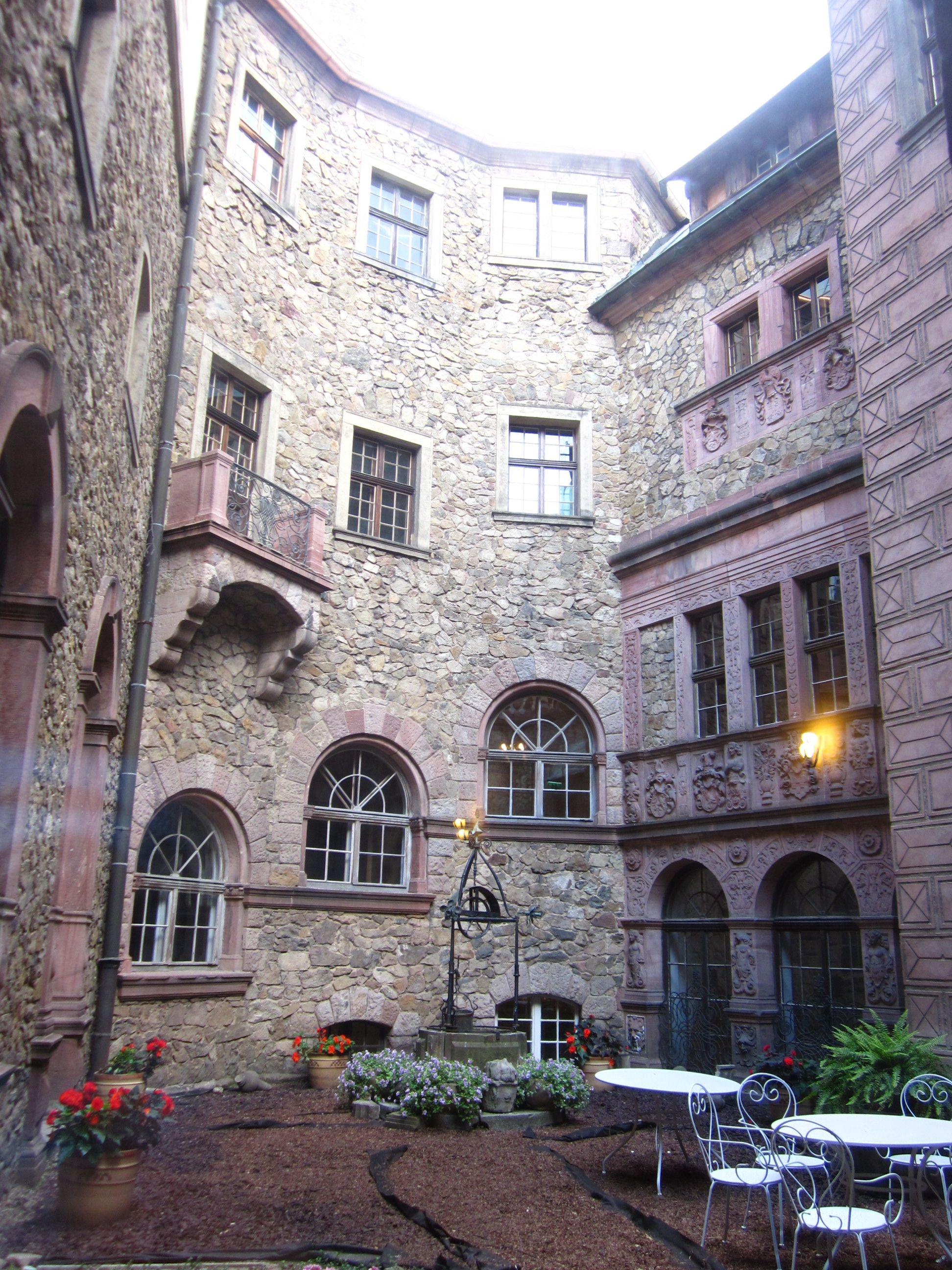 One of the inner courtyards in Castle Książ