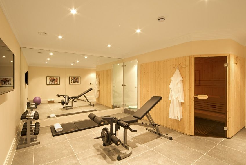 Burford gym with sauna and steam room by oakbridge homes